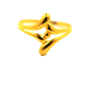 Golden Pearl K Gold Ring Gelbgold