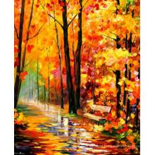 Handmade Knife Landscape Oil Painting on Canvas