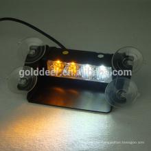 Tablero de cubierta y visera de policía luz emergencia montaje ventana Led luces estroboscópicas (SL34S-V)