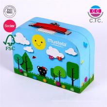 горячие продажа смазливая голубой бумаги ящик для хранения для детей