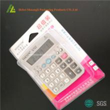Blister clamshell packaging for calculator