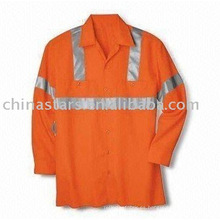 Camisa de manga larga reflexiva de alta visibilidad