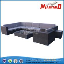 Im Freien Weidenmöbel Sofa