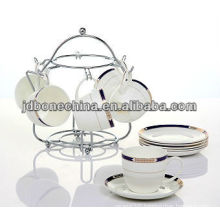 underglazed porcelain stoneware drinkware tea coffee set cup and saucer