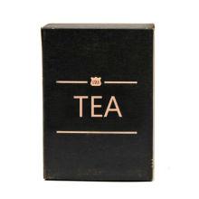 Caja de embalaje de regalo de té verde con estampación de láminas