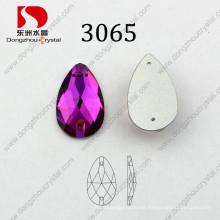 Flat Back Drop Rose Sewing Glass Beads
