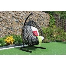 Hot Sale sintético rattan Hamaca de forma redonda - Silla de balancín Muebles de jardín al aire libre