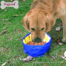Dollemi Faltbare zusammenklappbare tragbare Reise Essen & Wasser Schüssel für Haustiere Hunde