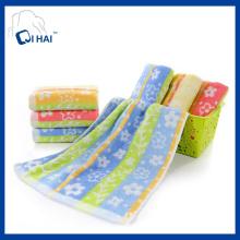 Baumwoll-Blumen-Garn gefärbte Gesicht Handtuch (QHF91190)