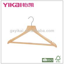 17 '' cabide de madeira do terno com barra das calças