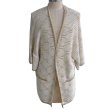 100%Cotton Lurex Women Cardigan Knitwear