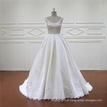 Requintado Sereia Líbano Designer Vestido De Noiva De Cetim
