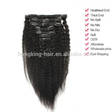 5a grade virgin brazilian human hair clip in hair extension on sale
