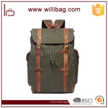 Custom Leather Backpack Mens Canvas School Backpack