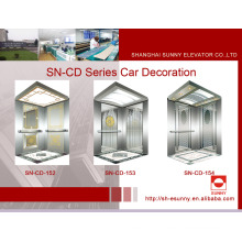 Elevator Cabin with Concave Golden Panel (SN-CD-152)