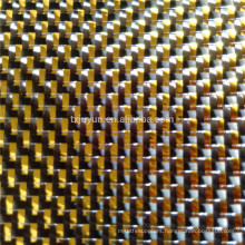 metallic carbon fiber fabric GOLDEN SILVER for auto parts sport parts