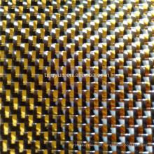 Tecido metálico de fibra de carbono GOLDEN SILVER para peças de automóvel peças desportivas