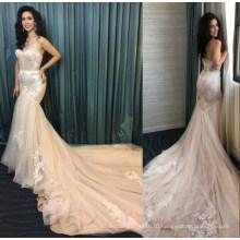 Реальные Дамы Кружева Русалка Одежда Одежда Свадебные Платья Свадебное Платье