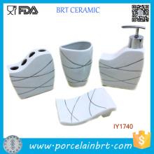 Мода керамический жизни 4шт Набор для ванны Аксессуары для ванной комнаты современный