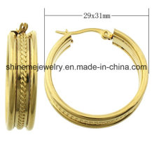 Shineme Jewelry High Quality Stainless Steel Plating Gold Earring (ERS6973)