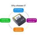 Tragbarer 58-mm-QR-Thermodrucker Bluetooth