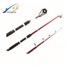 TSR069 China atacado barato equipamento de pesca de fibra de vidro telescópica vara de pesca