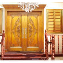 Luxury Golden Double Door with Carving