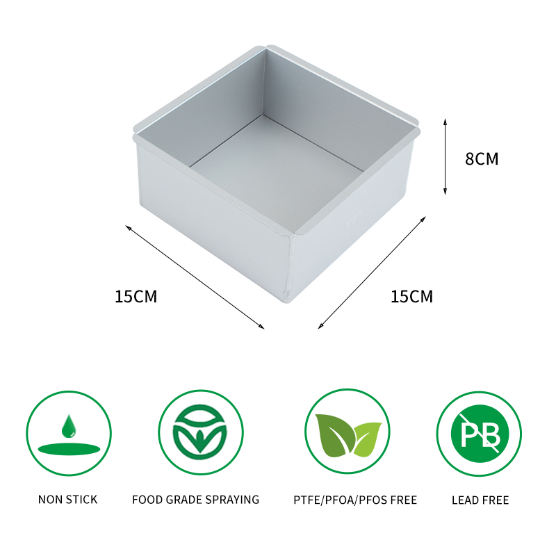 square aluminium alloy cake pan with removable bottom (36)