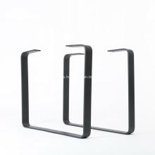 Pata de mesa de comedor con recubrimiento en polvo de metal negro