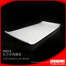 bandeja de servir rectangular de cerámica cena de venta por mayor