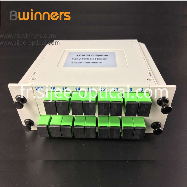 Insertion Module 1x16 Plc Splitter With Sc Apc Connector