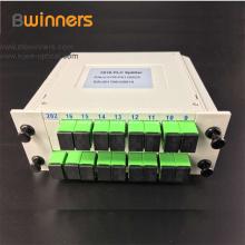 Diviseur optique de fibre de PLC avec le connecteur vert de 1X16 Sc / Apc