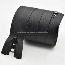 Zíper de nylon de metal impermeável personalizado para saco