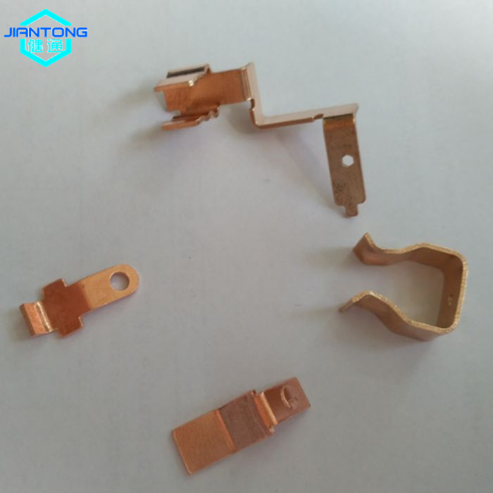 custom stamped copper metal contacts stamping part (4)