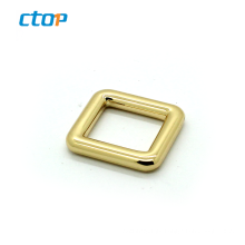 Guangdong Wholesale high quality square light parts custom belt gold bag buckle metal