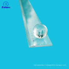 Offrir une lentille de boule de verre optique et une lentille de demi-boule