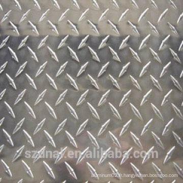 Plaques d'aluminium gaufrées