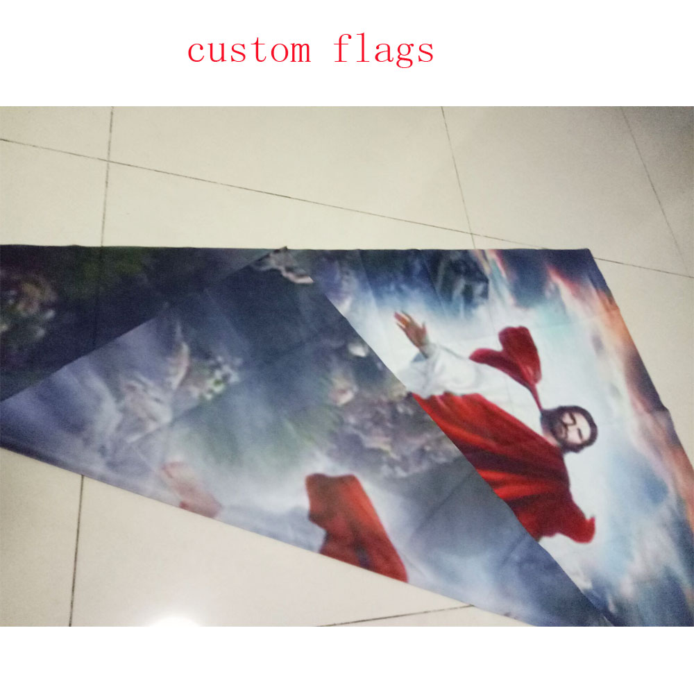 custom knitted polyester flags