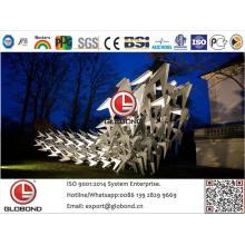 Globond plus panneau composite en aluminium PVDF (PF145)