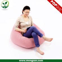 Sofá rosado precioso del beanbag de la tela escocesa, silla del bolso del grano de algodón