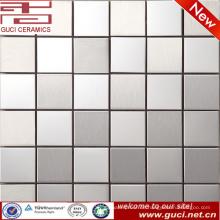 Foshan factory Lieferung gemischt Square Edelstahl Mosaikfliesen für Küche Wand