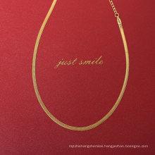 Hip Hop Wide Flat Snake Chain Necklace Soft Choker Flexible Flat Herringbone Chain Necklace Dainty Stainless Steel Jewellery