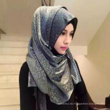 Soem-Herstellungsleoparddruck Chiffon- einfacher Hijab moslemischer Kopftuchschal