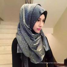 OEM manufacture leopard print chiffon plain hijab muslim head scarf shawl