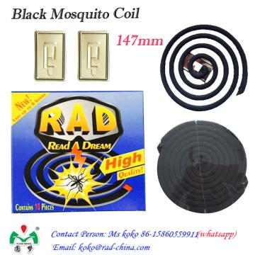 Schwarze Mückenspule, rauchfreie Mückenspule, abweisende Mückenspule