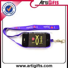 Custom design elastic lanyard cell phone holder