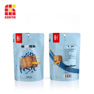 Logotipo personalizado Doypack Pouch Dried Fish Snack Packaging