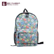 HEC Personalizado Grande Capacidade Crianças Escola Bags Verde Floral Padrão Preppy Estilo Mochila Ao Ar Livre Para Meninas Adolescentes