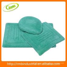 3pcs tapete de banho acrílico com látex para trás item de casa