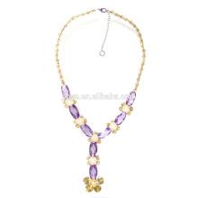 Mode Luxus Zirkon Y Form Aussage Halskette für Party oder Show